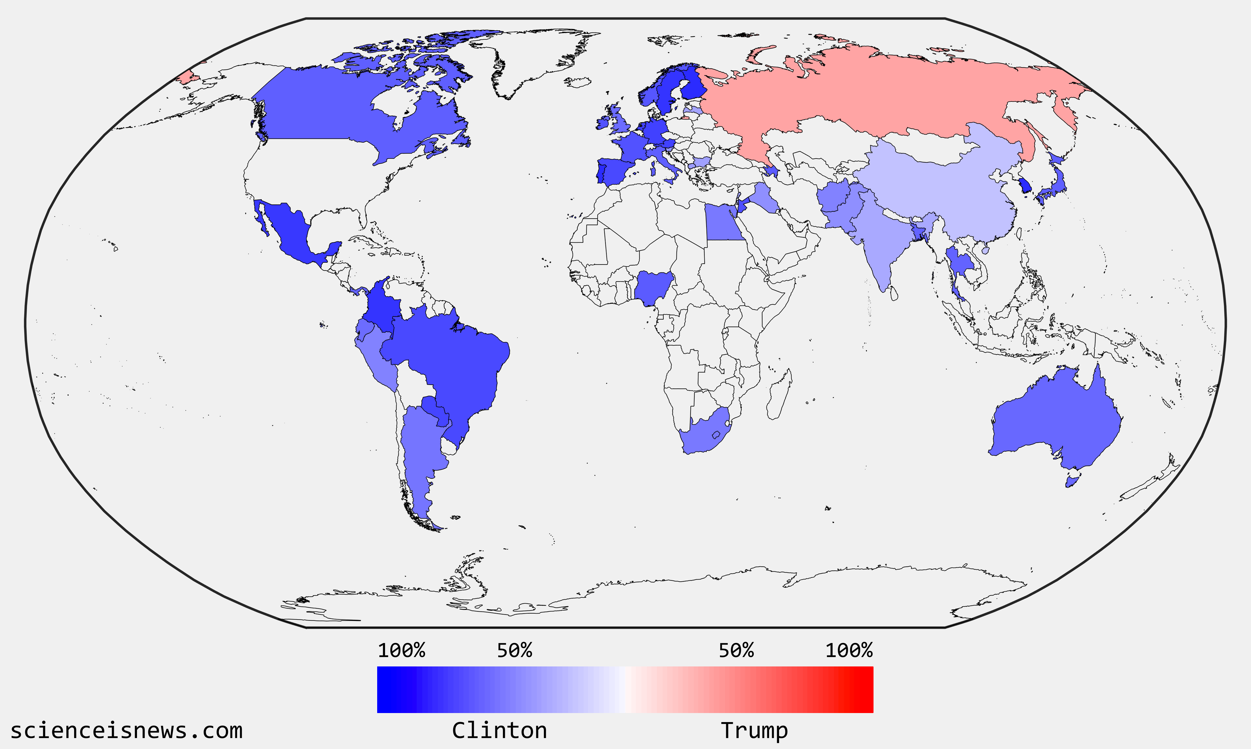 The World To The Polls Scienceisnews - Us Polls Map Of Country